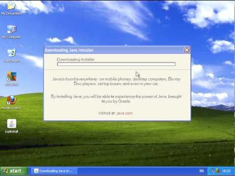 Системные требования для установки Java на Windows XP