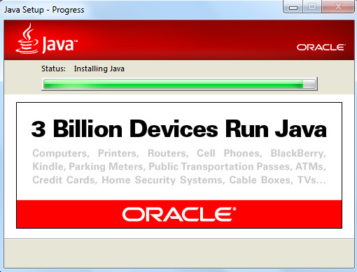 Выбор версии Java для Windows 8